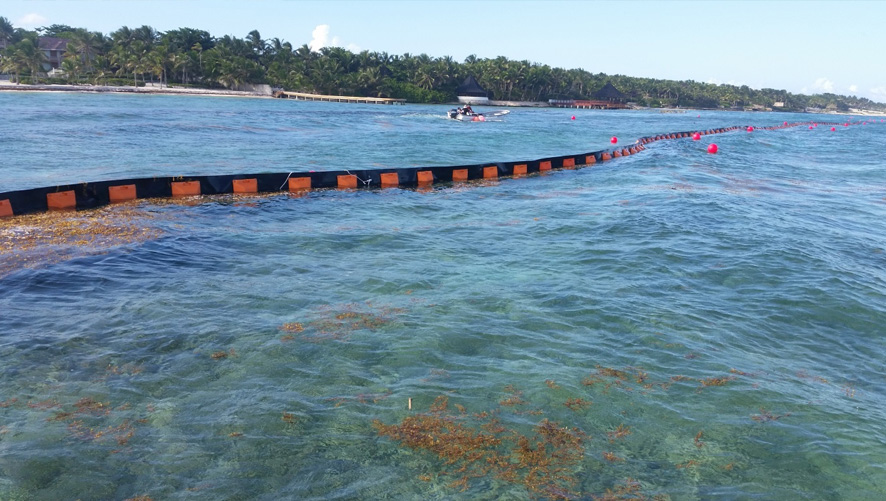 QUINTANA TOO STARTS INSTALLATION OF FLOATING BARRIER AGAINST